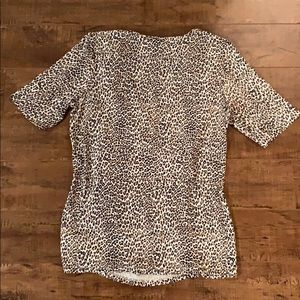 Talbots Tops - Talbots Leopard Print T-shirt